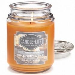 CANDLE-LITE Svíčka dekorativní ve skleněné dóze - Maple Pumpkin Swirl 510g