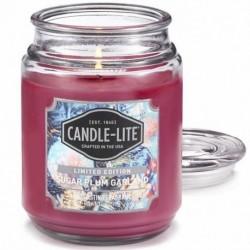 CANDLE-LITE Svíčka dekorativní ve skleněné dóze - Sugar Plum Garland 510g