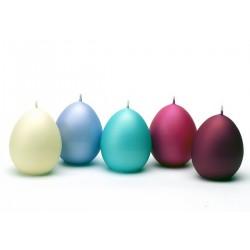 BARTEK CANDLES Svíčka velikonoční vajíčko 45x60mm - MATNÁ - MIX barev