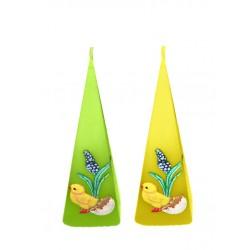 BARTEK CANDLES Svíčka velikonoční pyramida 50x50x150mm - kuřátko