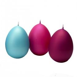 BARTEK CANDLES Svíčka velikonoční vajíčko 70x100mm - MATNÁ - MIX barev