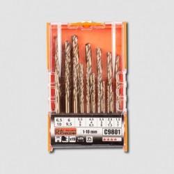 Sada vrtáků do kovu 19 dílů COBALT