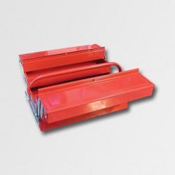 XTline Kufr na nářadí kov. 404x200x150mm 5 přihrádek TB123 PA78745
