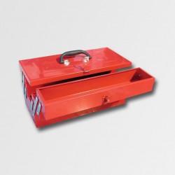 XTline Kufr na nářadí kov. 466x210x232mm 5 přihrádek TB122 PA78750