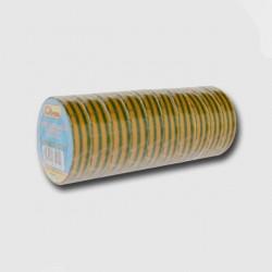 Páska izolačních PVC 19mm žluto/zelená bal/10ks (cena za 1ks)