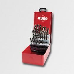 RUKO Sada vrtáků do kovu HSS-G CO 25dílů plechový box RU215215